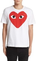 Comme des Garcons Men's Heart Face Graphic T-Shirt