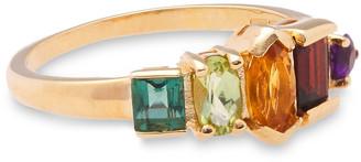 Cornelia Webb 24-karat Gold-plated Multi-stone Ring