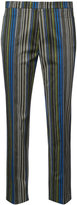 Akris Punto striped crop trousers - women - Cotton/Spandex/Elastane - 4