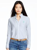 Personalization Striped Knit Oxford Shirt