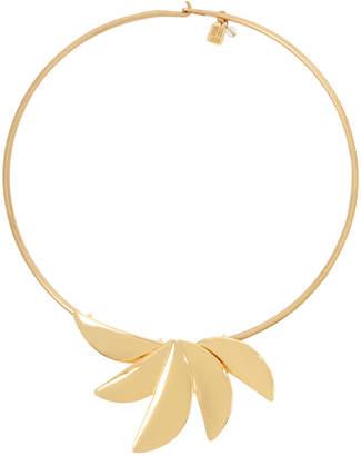 "Robert Lee Morris Soho Gold-Tone Sculptural Fan Wire 17"" Statement Necklace"