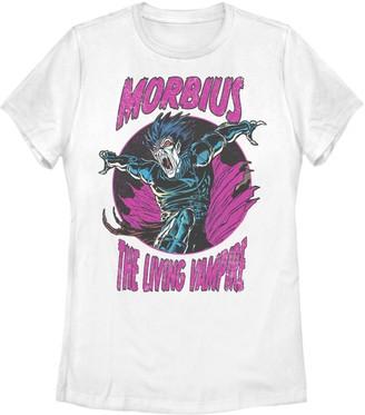 Marvel Juniors' Morbius The Living Vampire Purple Hue Portrait Tee