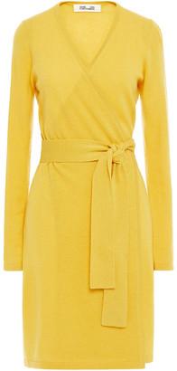 Diane von Furstenberg New Linda Wool And Cashmere-blend Wrap Dress