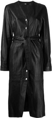 Karl Lagerfeld Paris Leather Midi Dress