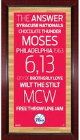 "Steiner Sports Philadelphia 76ers 32"" x 16"" Vintage Subway Sign"
