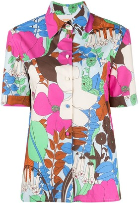 La DoubleJ Big Flower print short-sleeve shirt