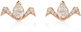 RAPHAELE CANOT Deco Rocks diamond & pink-gold earrings