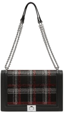 INC International Concepts Inc Ajae Flap Plaid Crossbody, Created for Macy's