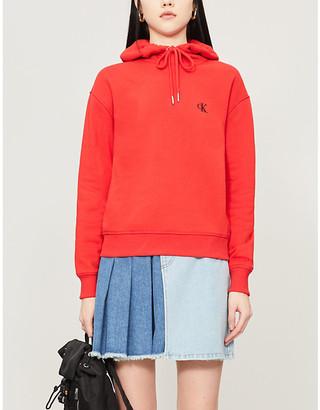 Calvin Klein Logo-embroidered cotton-jersey hoody