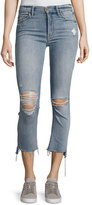 Mother Insider Crop Straight Jeans, Indigo