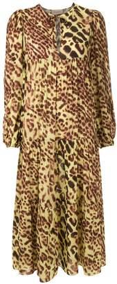 Adriana Degreas Animal Print Midi Dress