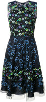 Oscar de la Renta floral print flared dress - women - Cotton/Polyethylene/Polystyrene - 4