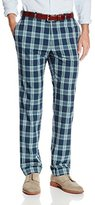 Haggar Men's Vintage Slim Fit Flat Front Wool Plaid Pant