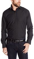 Thomas Dean Men's 2 Button SPRD Collar Solid with Fil Coupe