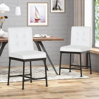 """17 Stories Tracy Industrial Modern 24"""" Bar Stool Color: Black"""