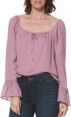 Paige Marisole Long Sleeve Silk Blouse