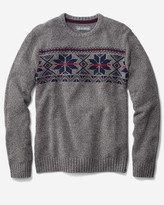 Eddie Bauer Men's Snow Bridge Crew Sweater