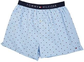 Tommy Hilfiger Woven Boxer Micro Flag (Ice) Men's Underwear