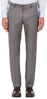 Giorgio Armani Men's Wool-Cashmere Hopsack Trousers-Light Grey