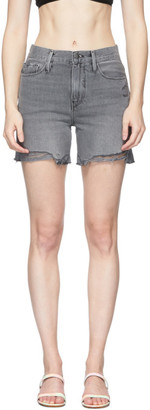 Frame Grey Denim Le Tour Short Raw Edge Shorts