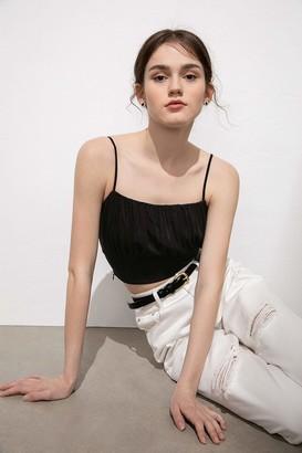 J.ING Ivy Black Sleeveless Top