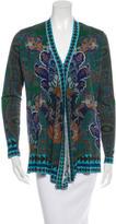 Etro Printed Wool Cardigan