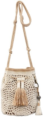The Sak Sayulita Crocheted Mini Drawstring Handbag