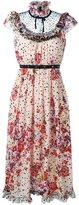 Giamba floral print midi dress - women - Silk/Polyamide/Polyester - 42