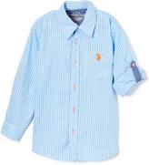 U.S. Polo Assn. Blue Coast Roll-Tab Woven Button-Up - Toddler & Boys