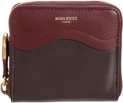Nina Ricci Two-Tone Compact Zip Wallet