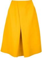 N_8 draped knee length skirt