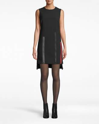 Nicole Miller Exposed Zippers Shift Dress