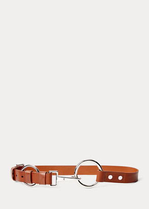 Ralph Lauren Double-O-Ring Leather Belt