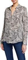 L'Agence Nina Long-Sleeve Button-Down Blouse