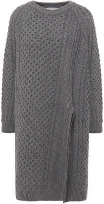 Stella McCartney Oversized Asymmetric Cable-knit Wool And Alpaca-blend Sweater