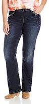 Silver Jeans Women's Plus-Size Mid Super Stretch Bootcut Jean
