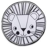 NoJo Roar Lion's Head Round Throw Pillow in Black/White