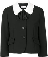 RED Valentino contrast collar jacket - women - Polyester/Spandex/Elastane/Acetate/Viscose - 42