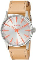 Nixon Women's A3772089 Sentry 38 Stainless Steel Boyfriend-Style Watch