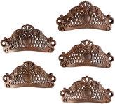 Rejuvenation Set Of 5 Cast Iron Rococo Filigree Bin Pulls, Pat. 1865