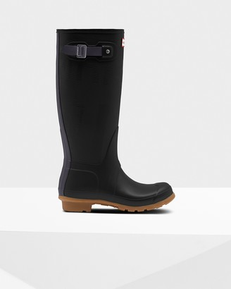 Hunter Women's Original Tall Exploded Logo Texture Rain Boots