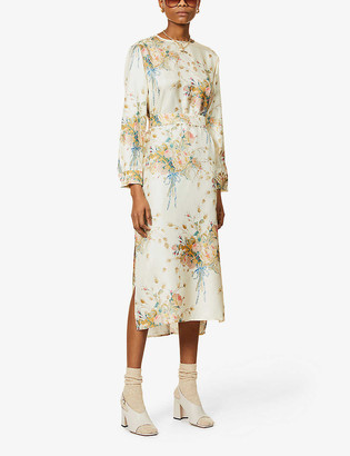 Max Mara Mirko floral-print silk-twill midi dress