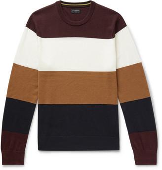 Club Monaco Colour-Block Merino Wool Sweater