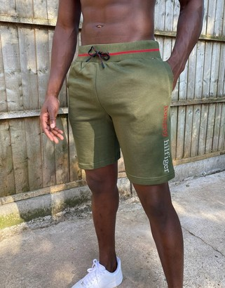 Tommy Hilfiger remix logo lounge shorts in khaki