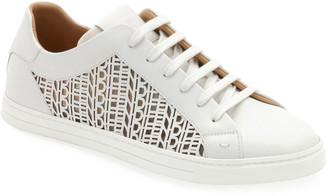 Fendi Men's Laser-cut Logo Low-Top Sneakers