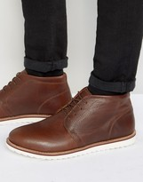 Red Tape Chukka Boots In Tan Leather