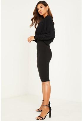 Quiz ITY WrapBodycon Dress - Black