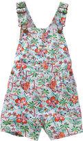 Osh Kosh Oshkosh Tropical Print Cotton Shortalls - Baby Girls 6m-24m