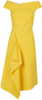 Roland Mouret Barwick Off-The-Shoulder Draped Dress
