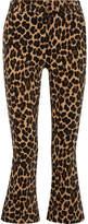Frame Cropped Leopard-print Cotton-blend Velvet Flared Pants - Leopard print